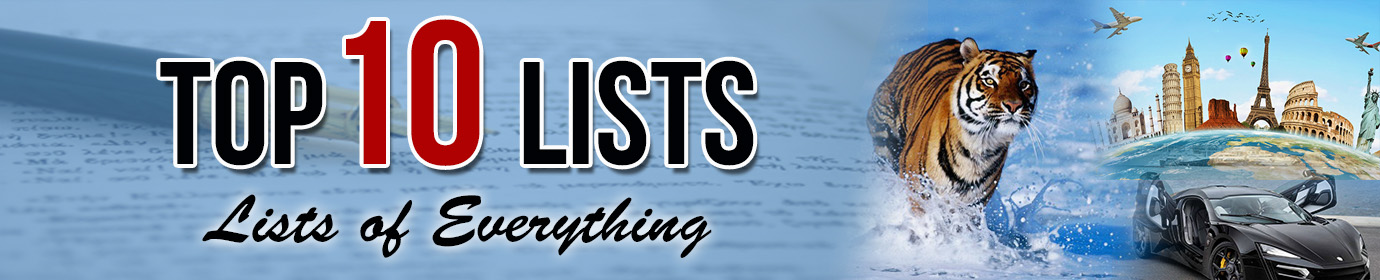 Top ten lists of everything