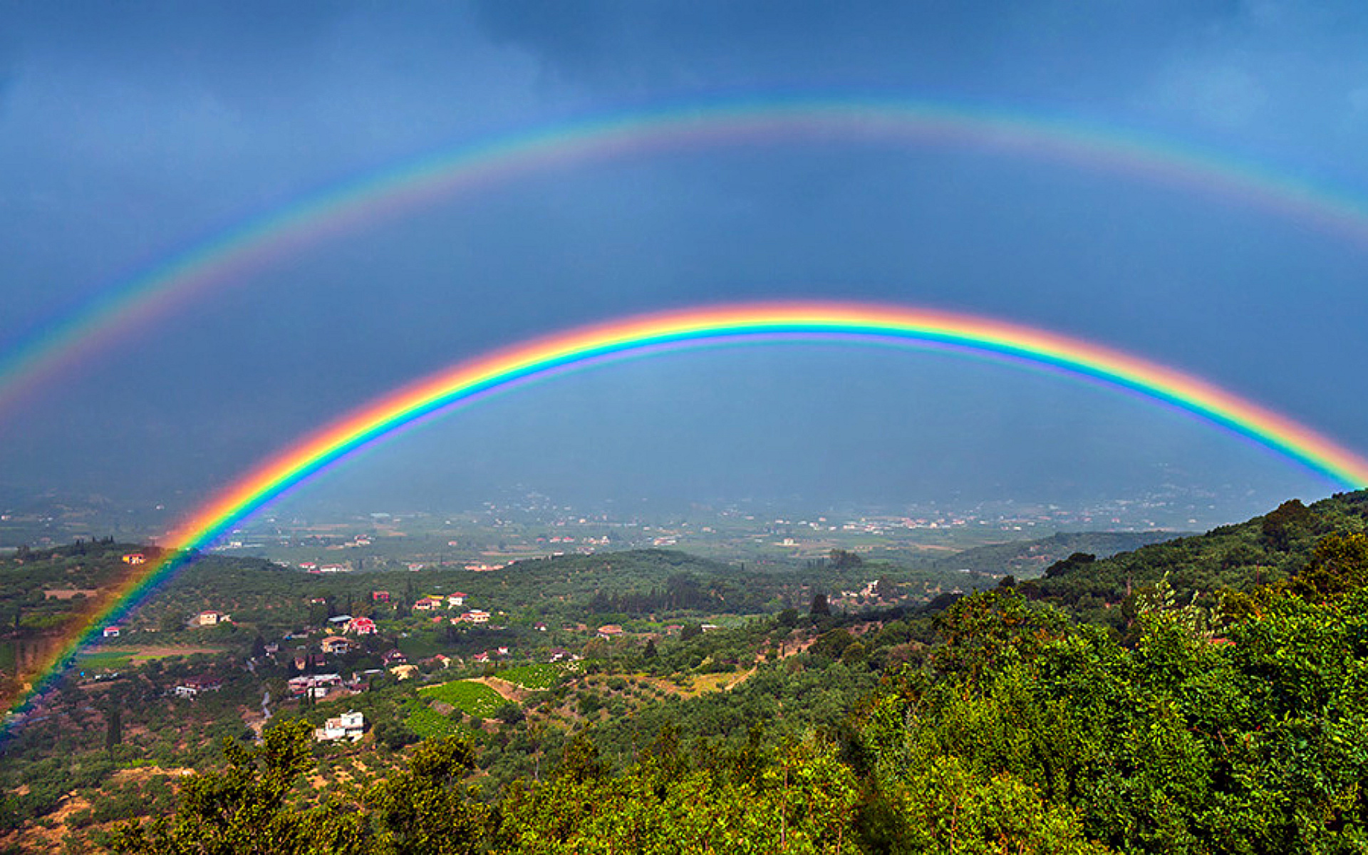 Image result for most beautiful triple rainbow